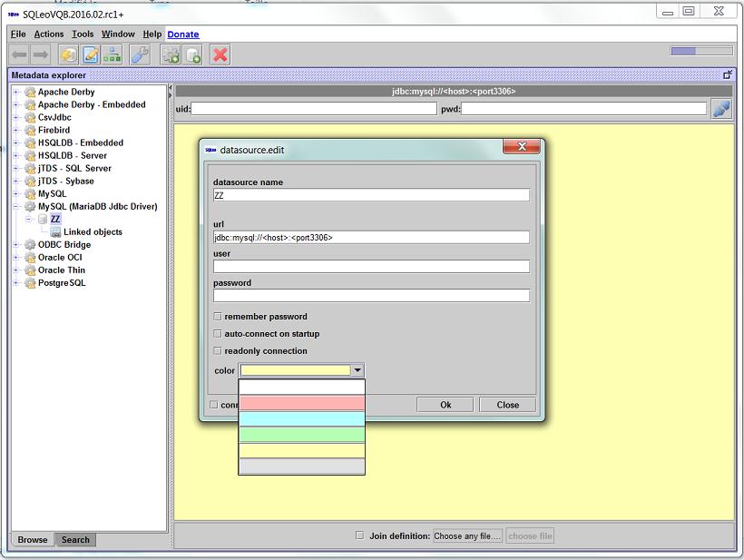 SQLeo Visual Query Builder Activity